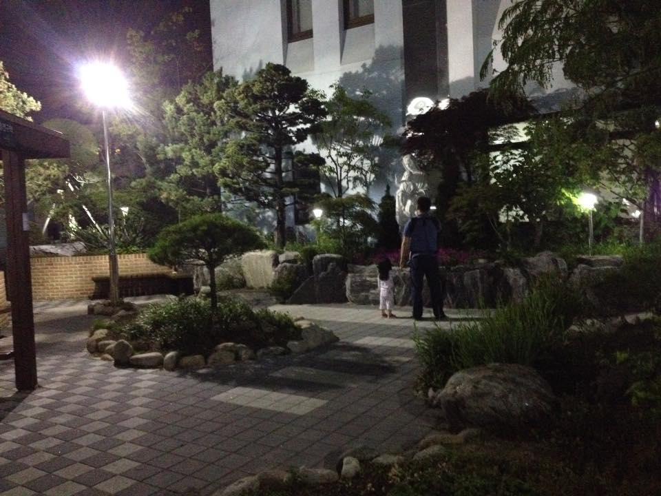 парк перед корейским госпиталем